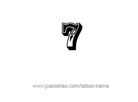 Number Tattoo Designs