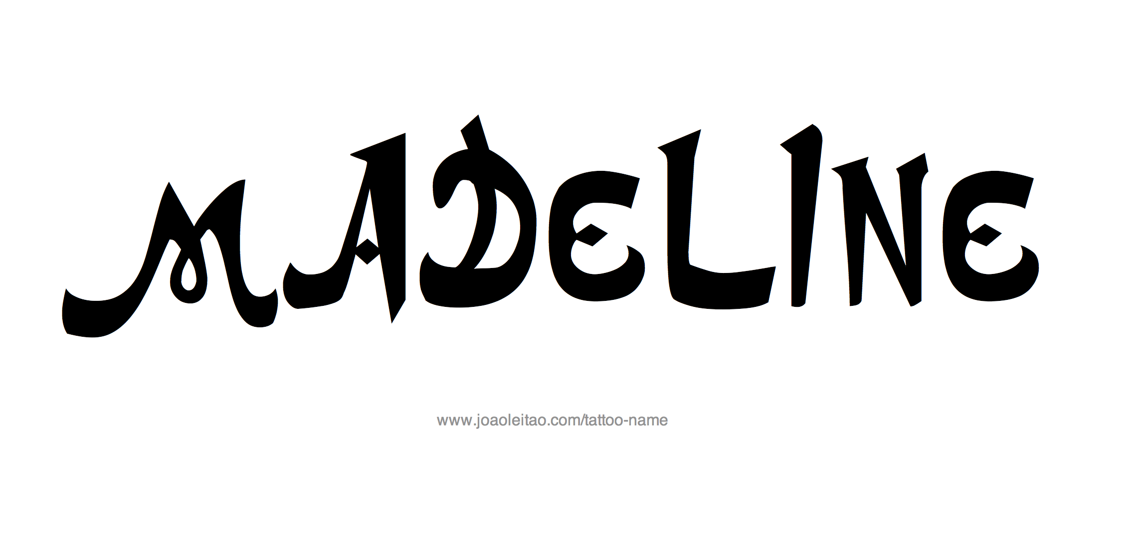 Madeline Name Tattoo Designs