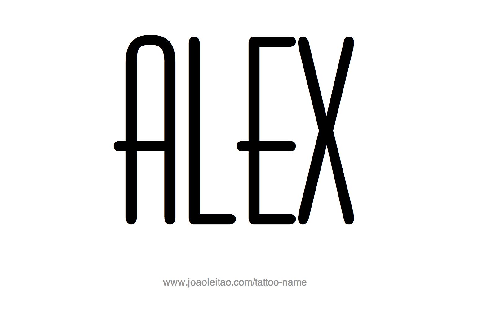 Alex Name Tattoo Designs