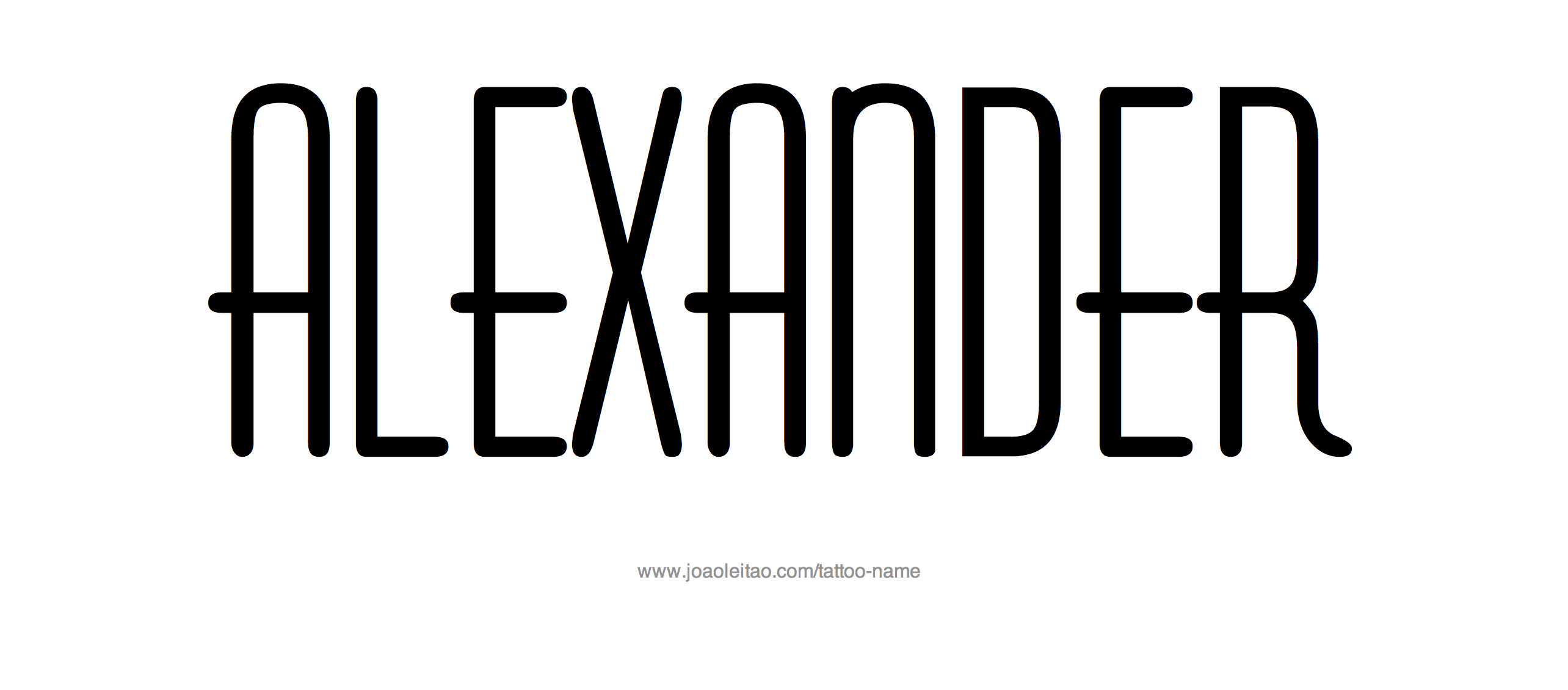 Alexander Name Tattoo Designs