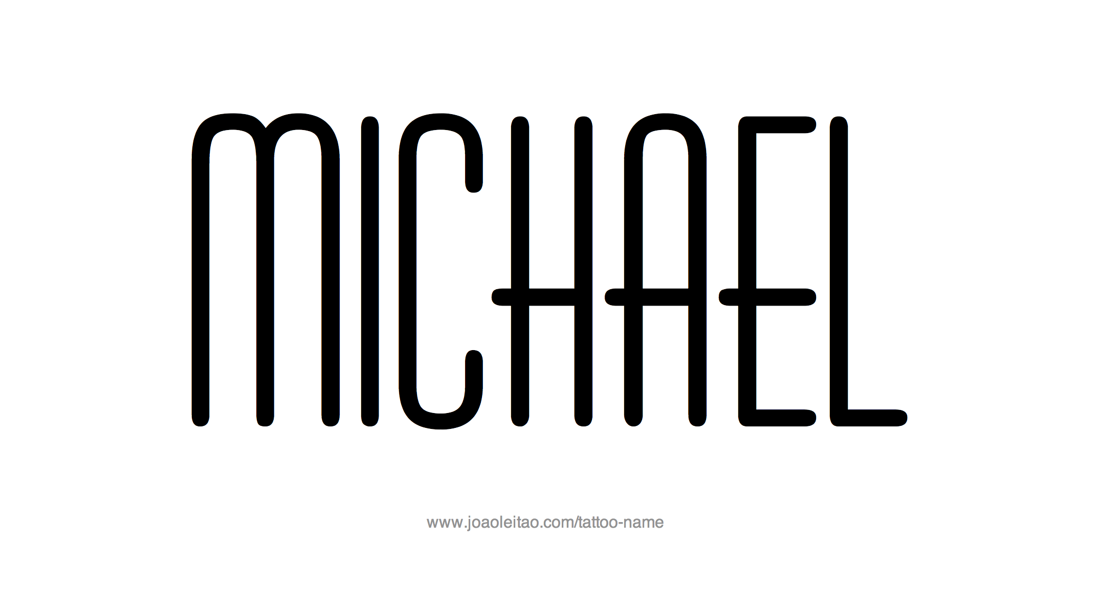 Michael Name Tattoo Designs