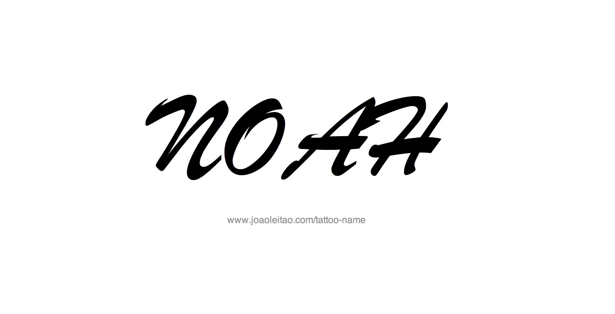 Noah Name Tattoo Designs