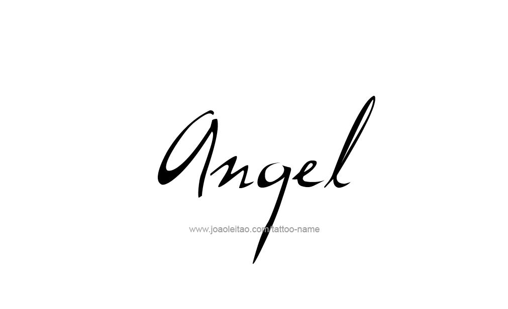 Angel Name Tattoo Designs