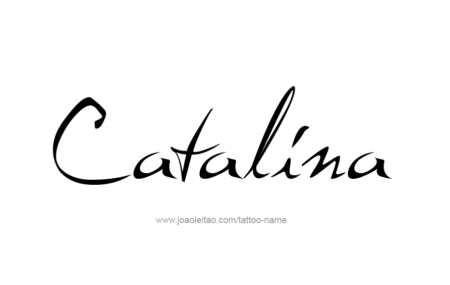 tattoo-design-name-catalina