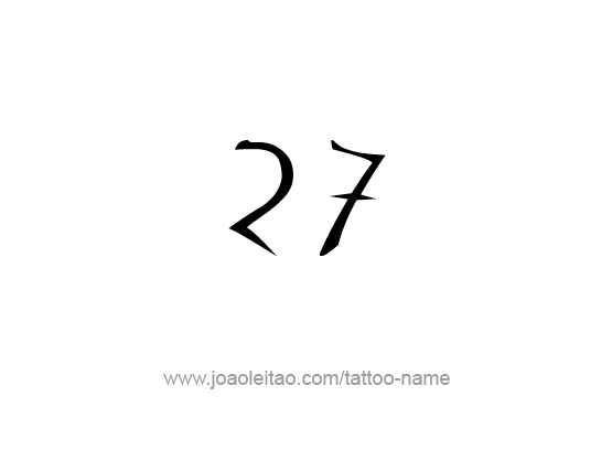 Twenty Seven,27 Number Tattoo Designs , Tattoos with Names