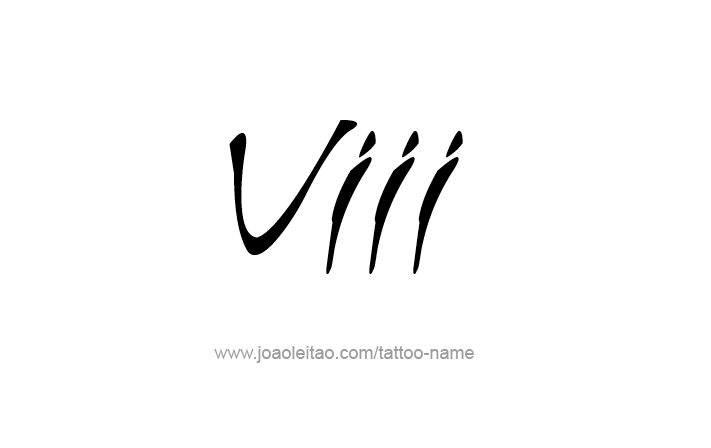 Viii Roman Numeral Tattoo Designs Tattoos With Names