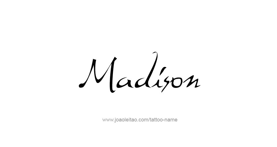 madison usa capital city name tattoo designs tattoos