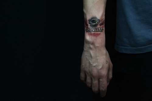 Eye tattoo designs ideas for men – man wrist tattoo