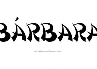 Desenho de Tatuagem com o Nome Barbara