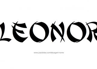 Desenho de Tatuagem com o Nome Leonor