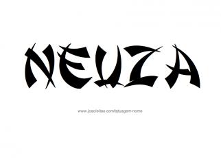Desenho de Tatuagem com o Nome Neuza