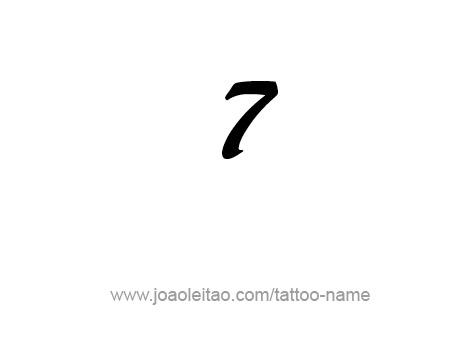 Desenho De Tatuagem Do Numero 7 Sete Tatuagem Com Nome