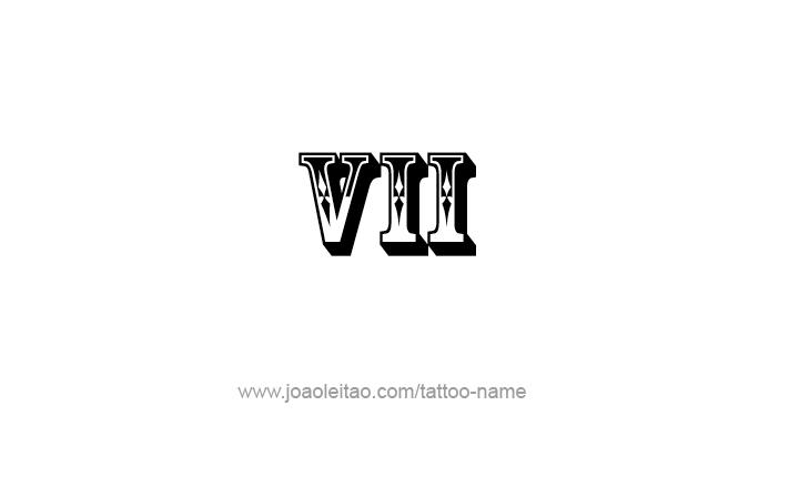Desenho De Tatuagem Do Numero Romano Vii 7 Tatuagem Com Nome