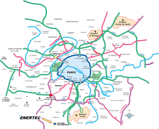 mapa de paris e aeroportos Mapa do Centro de Paris | Roteiros e Dicas de Viagem mapa de paris e aeroportos
