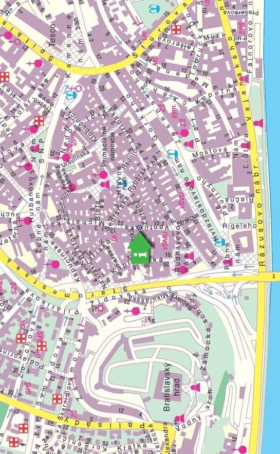 Mapa centro de Bratislava
