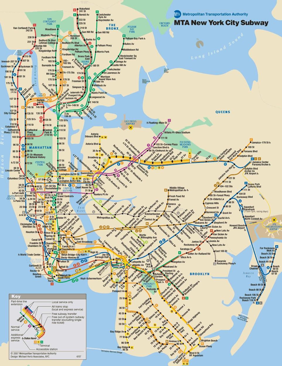 Mapa Metro Nova Iorque