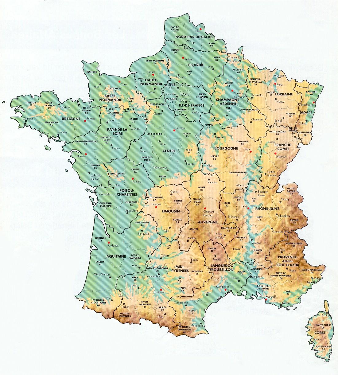Mapa Regioes Franca