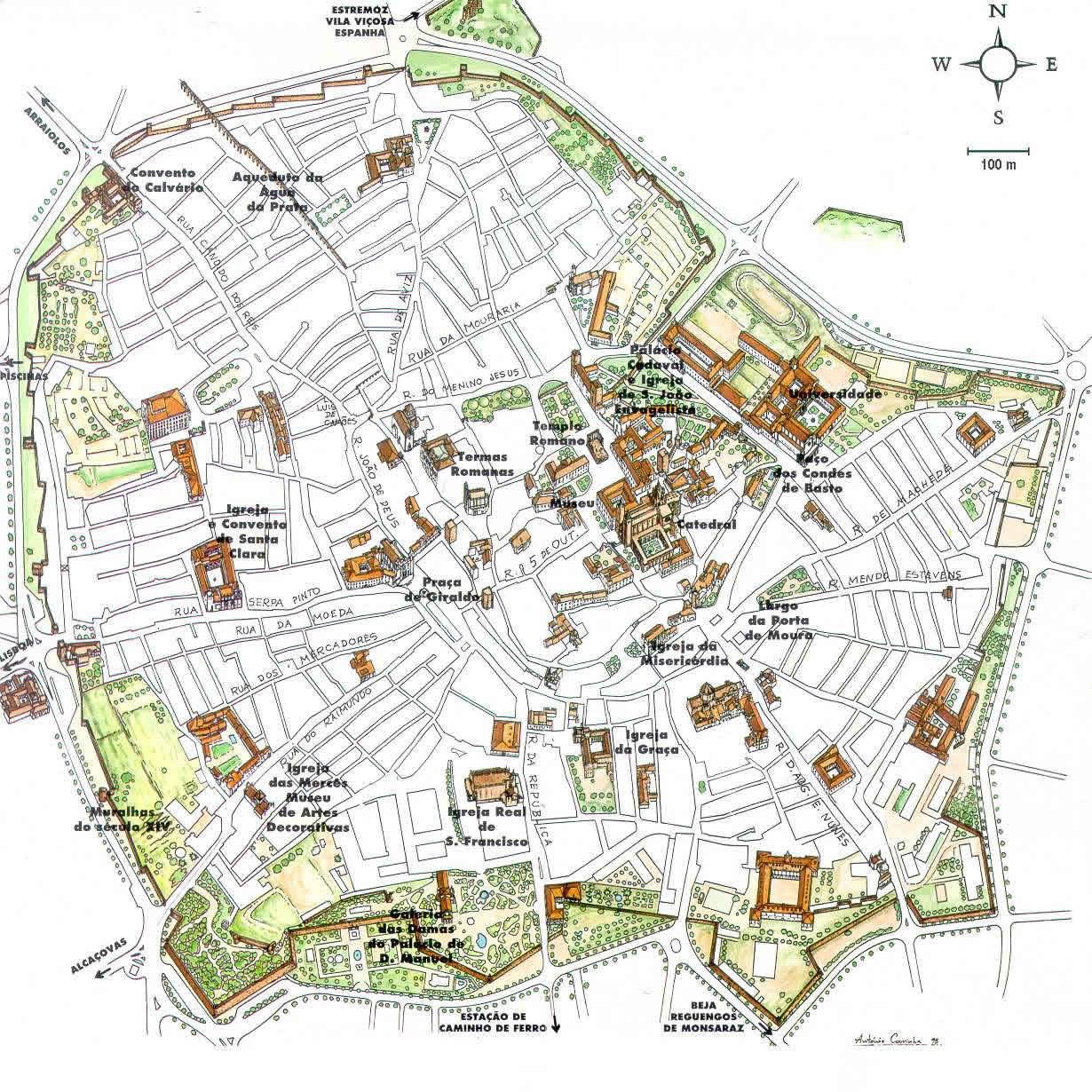 Mapa Monumentos Evora