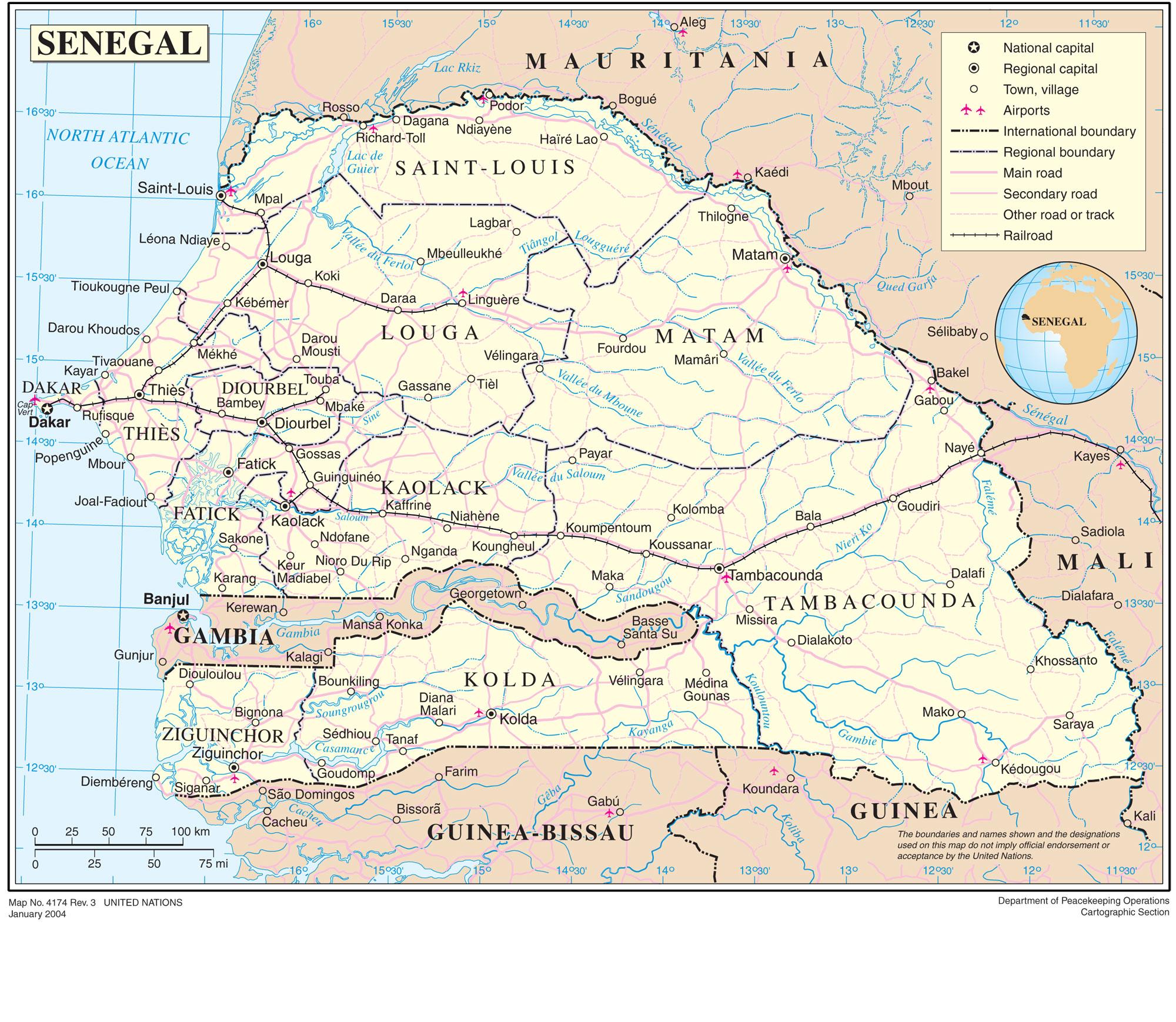 Mapa Grande Senegal
