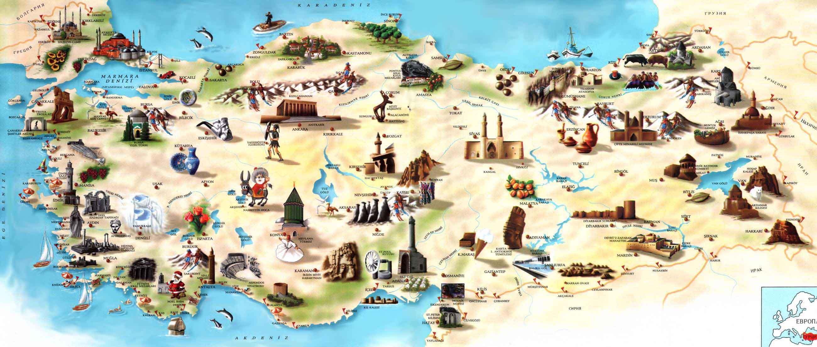 Mapa Turístico Turquia