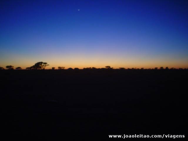 Por do sol em Bir Moghrein, norte da Mauritânia