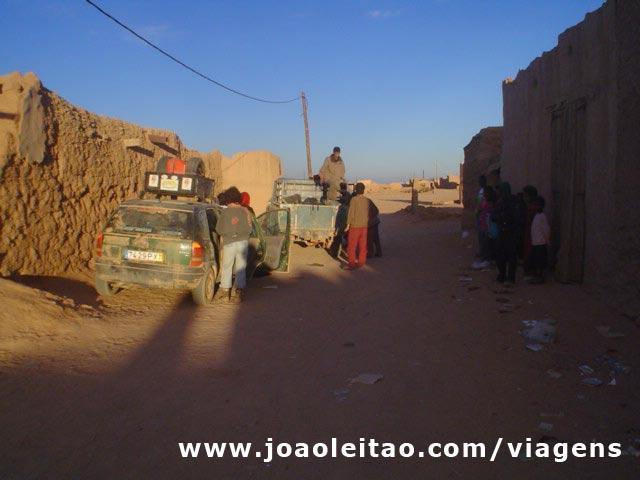 Rua em Bir Moghrein, norte da Mauritânia