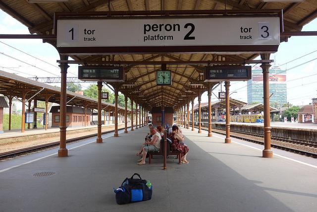 Estação de trem no Leste europeu