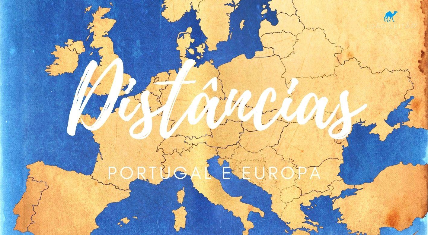 Distâncias entre Portugal e Capitais Europeias
