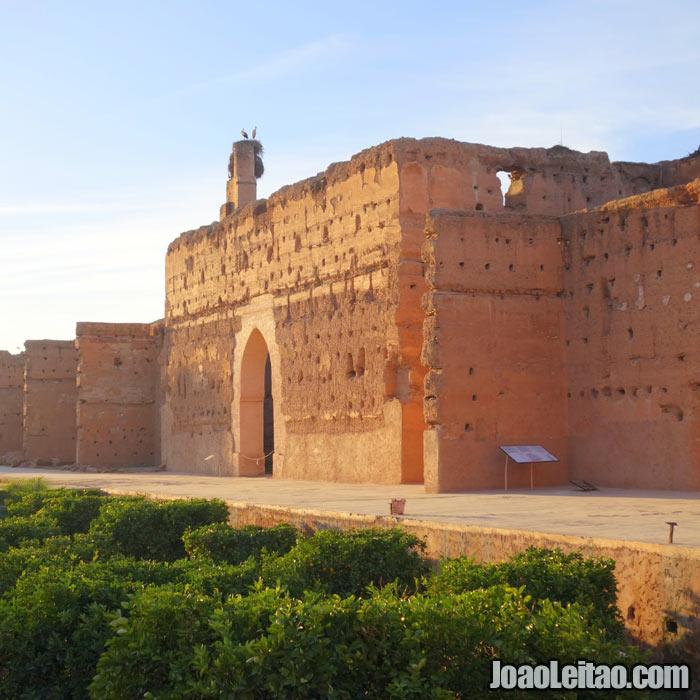 Palácio El Badi em Marrakech