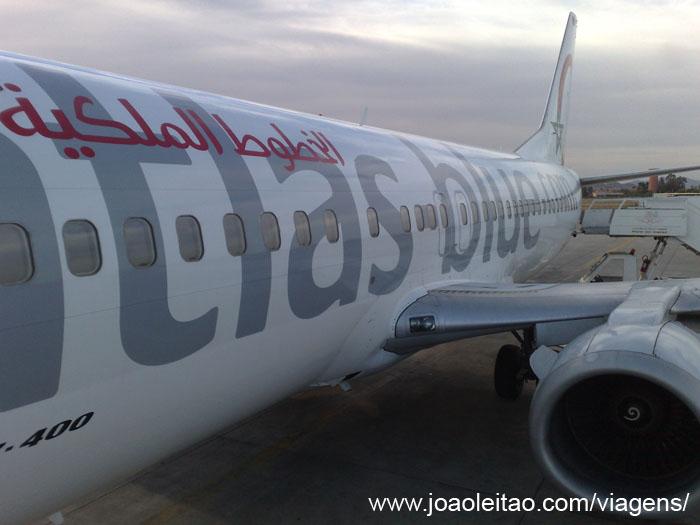 Aviao em Marrakech Marrocos