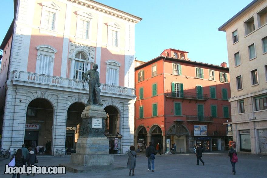 Foto do centro histórico de Pisa