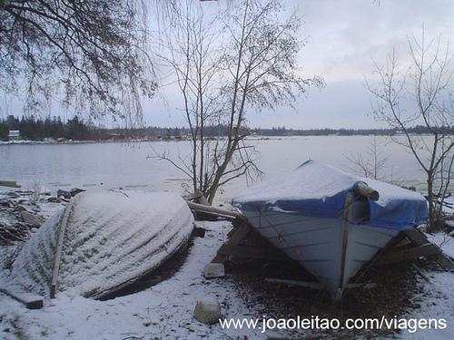 Kaskinen durante o Inverno, Finlândia