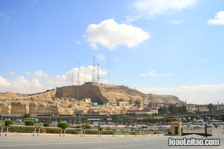 Foto Citadela Saladin ao longe
