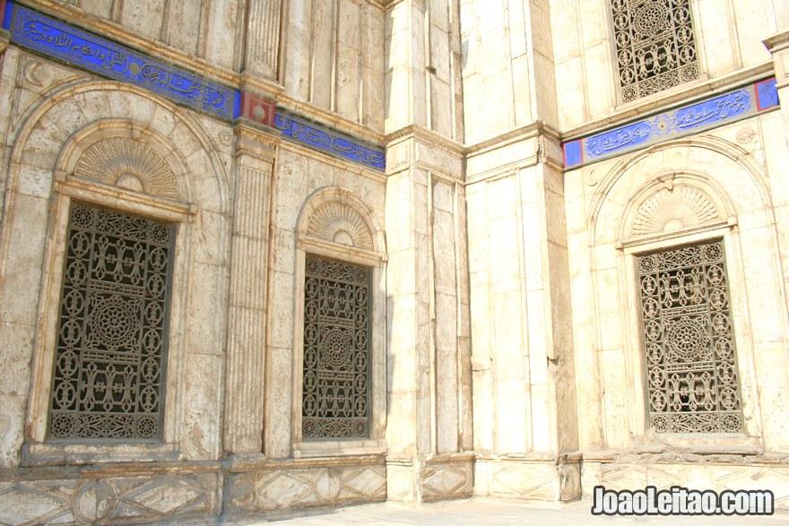 Foto da decoração da Mesquita Mohamed Ali