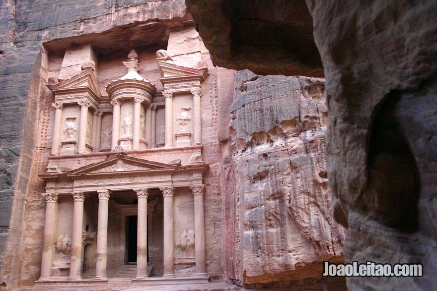 El Khazneh - A Câmara do Tesouro em Petra na Jordânia