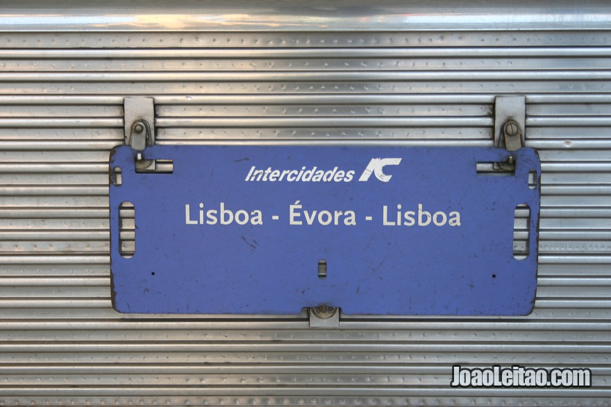 Placa do Comboio  Intercidade de Lisboa a Évora
