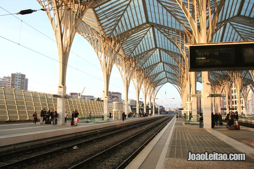 Estação de comboios em Lisboa
