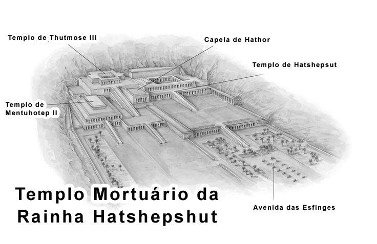 Mapa do Templo mortuário da Rainha Hatshepshut