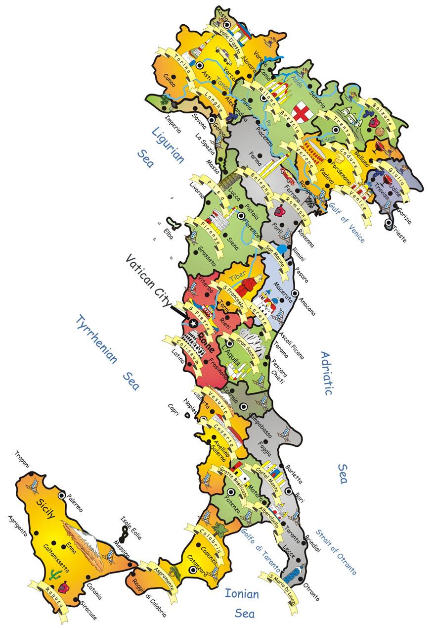 Mapa de Itália