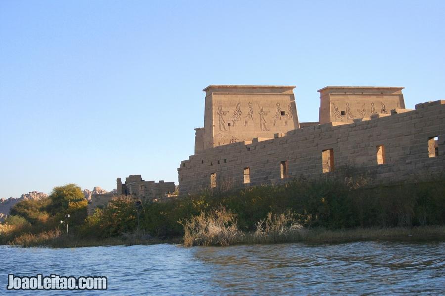 Templo de Filae no sul do Egito