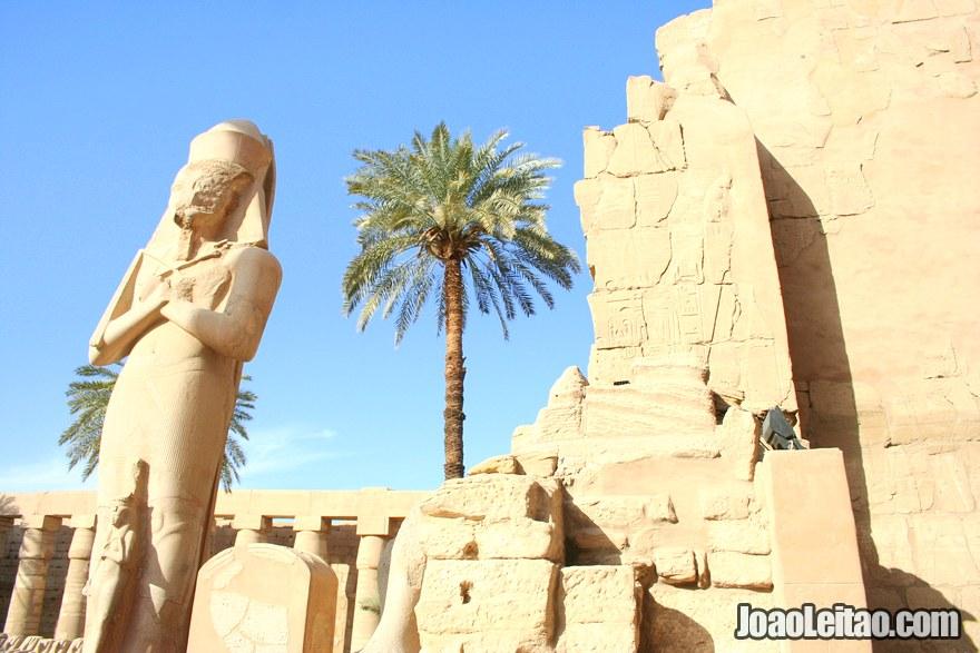 Foto do Templo de Karnak