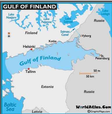 Mapa do Golfo da Finlândia