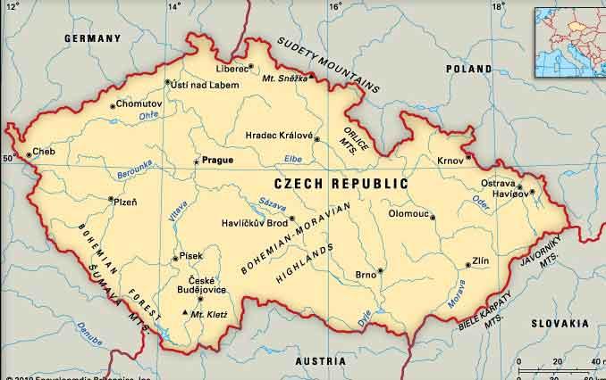 Mapas da República Checa