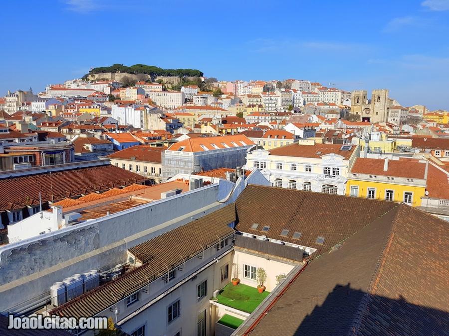 Linda vista da cidade de Lisboa