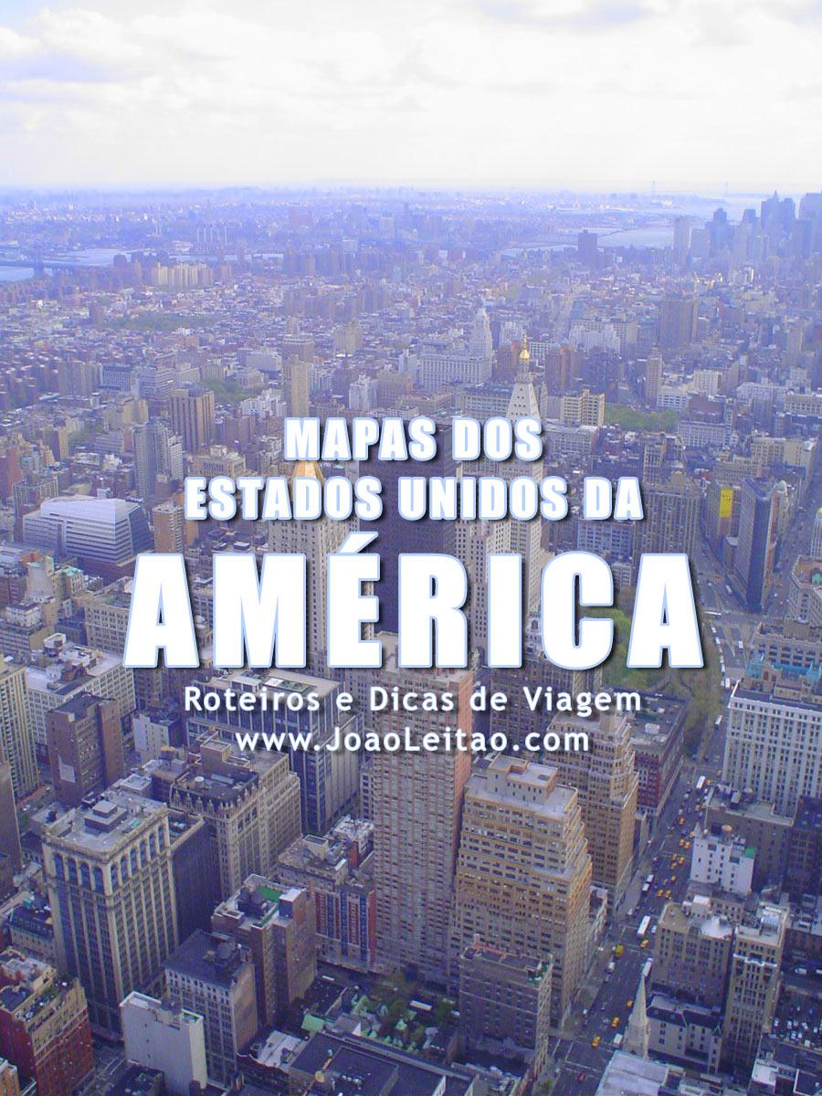Mapa dos Estados Unidos da América