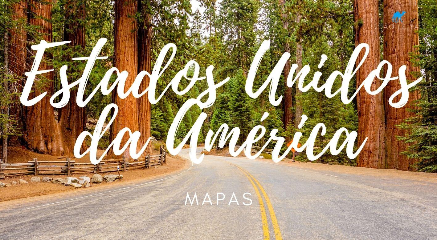 Mapas dos Estados Unidos da América