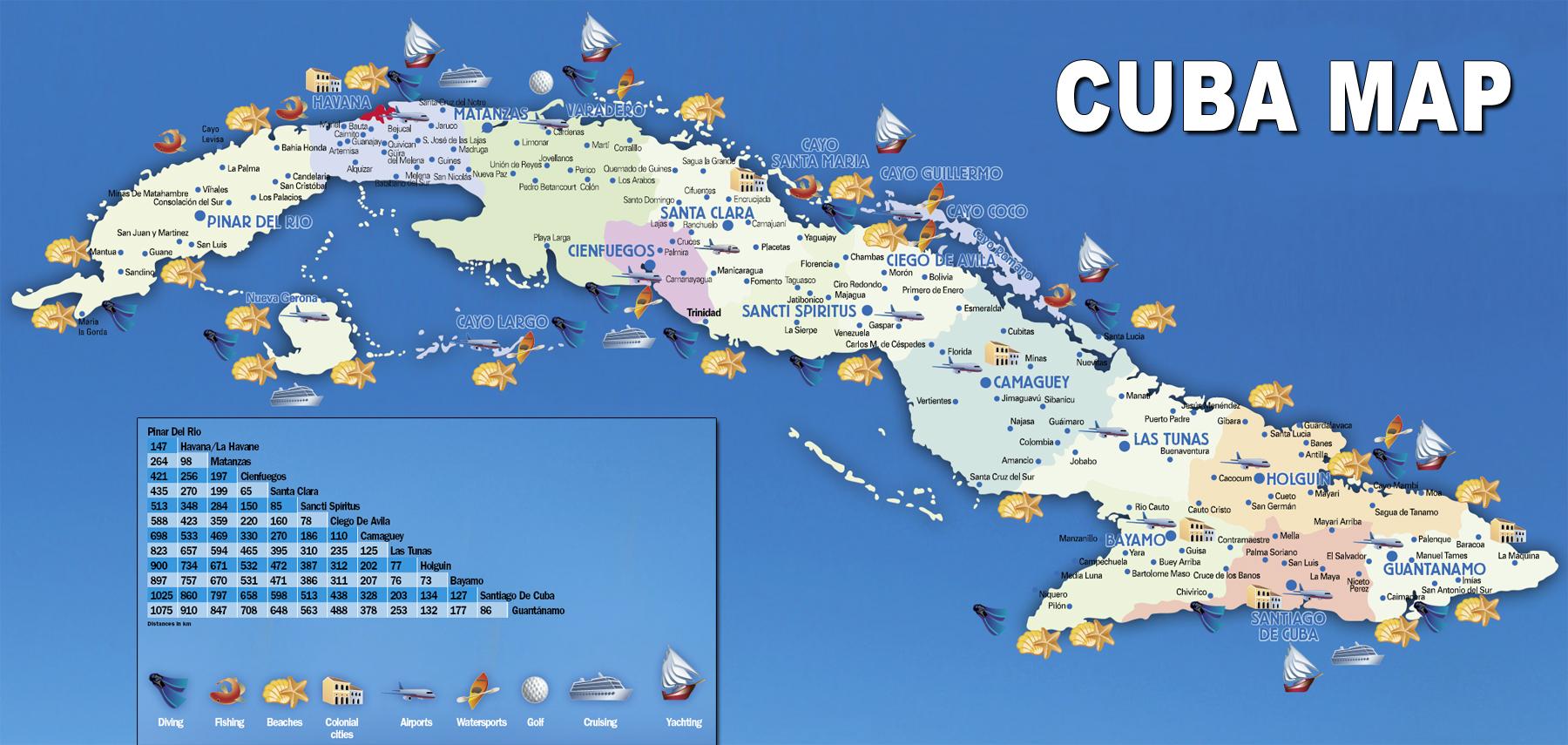 Mapa Turístico de Cuba