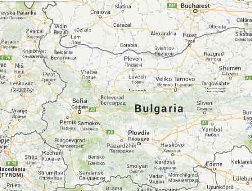 Mapa da Bulgária 2