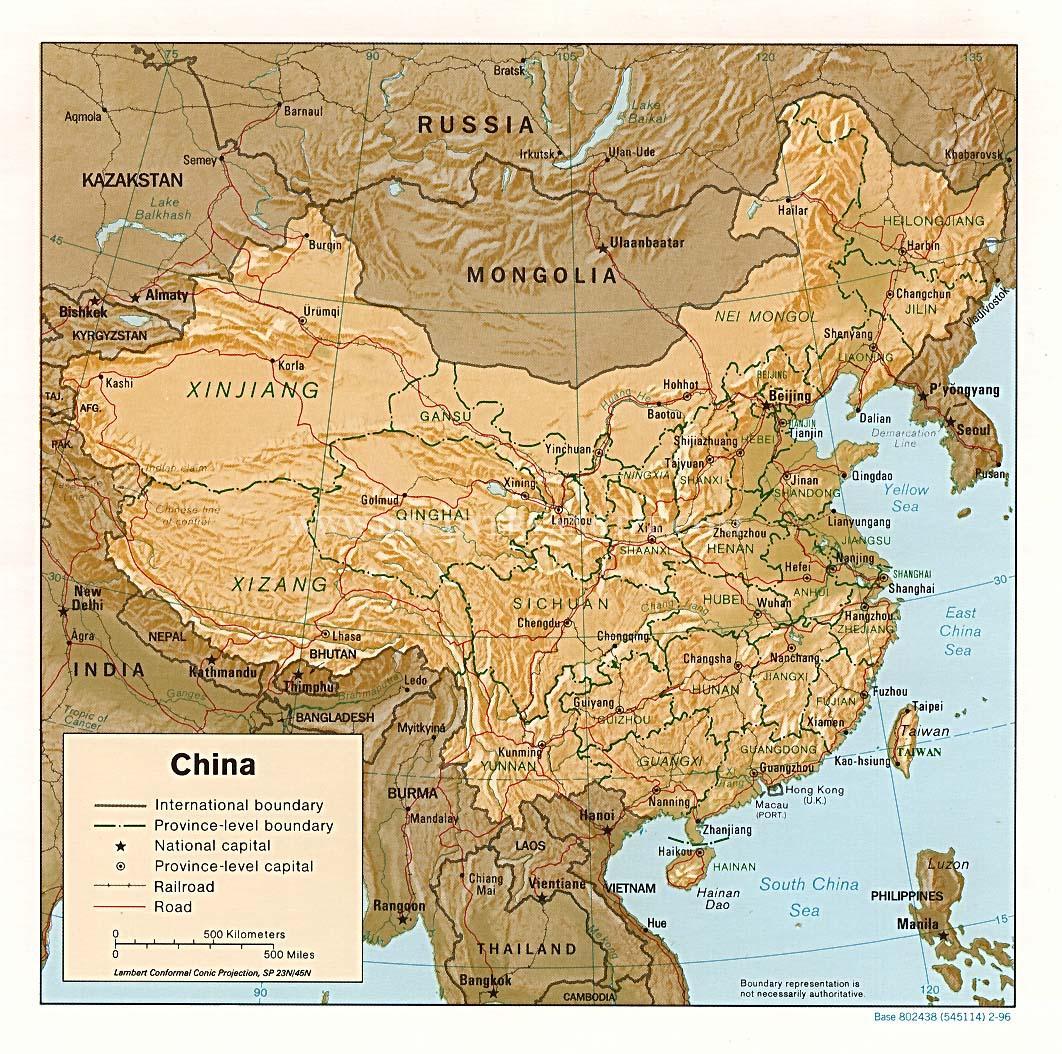 Mapa da China
