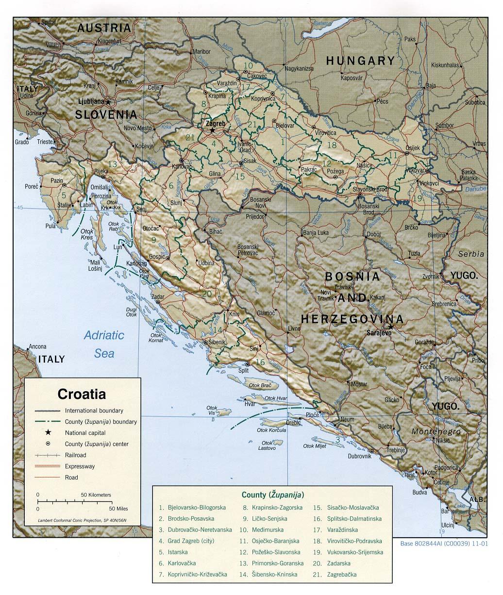 Mapa Grande da Croácia